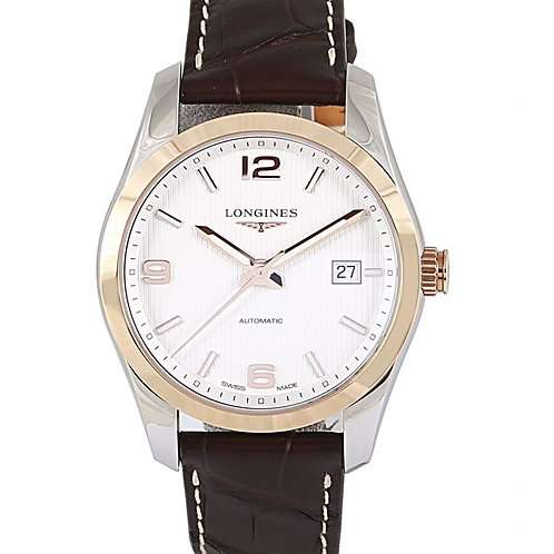 Longines Conquest Classic Silver Dial 40mm Steel & Rose Gold