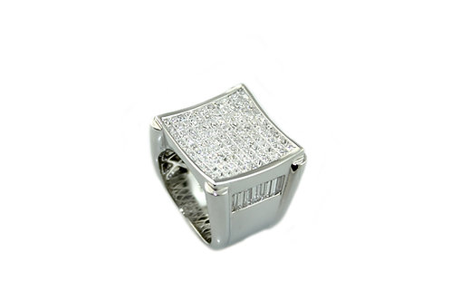 Men's Invisible Setting Diamond Ring