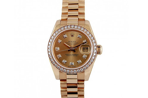 Rolex Datejust Champagne Dial 26mm Yellow Gold