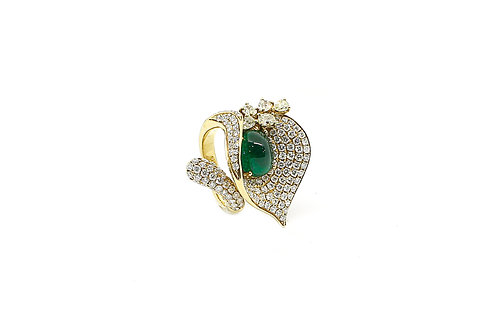Emerald and Assorted Diamonds Ring