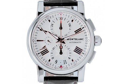 Montblanc Meisterstuck Star Chronograph Silver Dial 44mm Steel