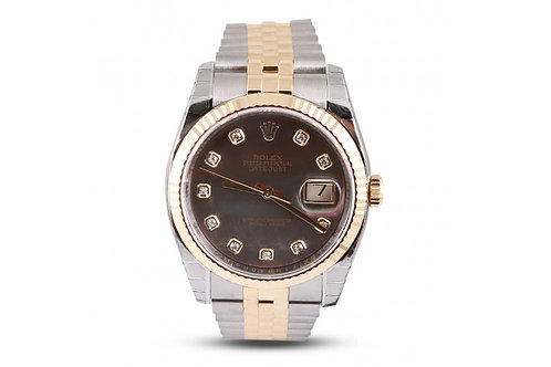 Rolex Datejust 36 Steel, Yellow Gold & Diamonds