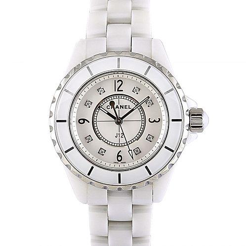 Chanel J12 Mother of Pearl Diamond Dial 29 x 10.37mm Steel Ladies