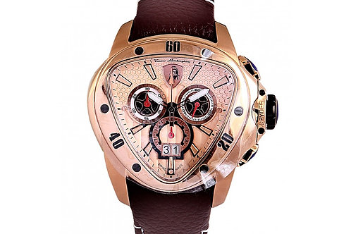 Tonino Lamborghini 1105 Spyder Chronograph Rose Gold Dial 55mm Rose Gold