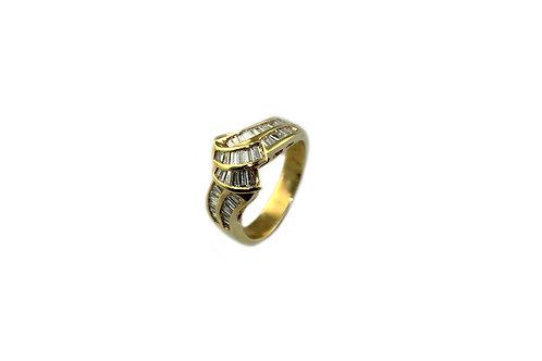 Knot Baguette Diamond Ring
