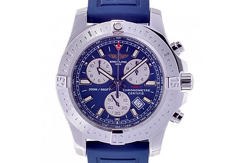 Breitling Colt Chronograph Chronometer Blue Dial 44mm Steel