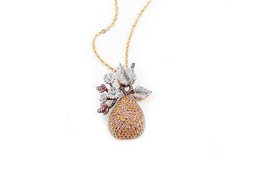 Coloured Sapphire and Diamond Pendant