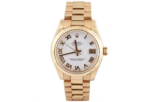 Rolex Datejust President Roman Dial 31mm Yellow Gold