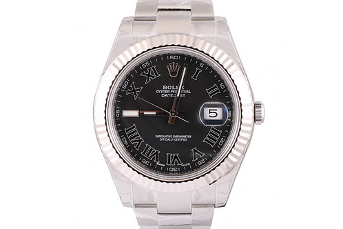 Rolex Datejust II Roman Dial 41mm Steel & White Gold