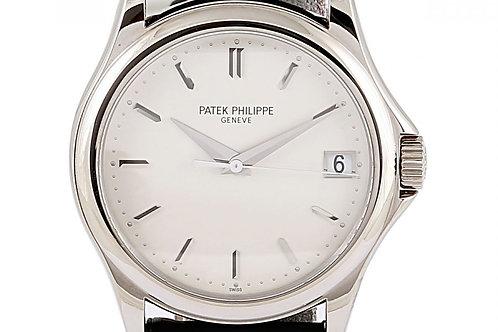 Patek Philippe Calatrava Silver Dial 37mm White Gold