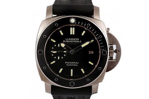 Panerai Luminor Submersible 1950 Amagnetic Black Dial 47mm Titanium