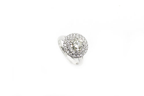 Solitaire Round Brilliant Cut Diamond and Gold Ring