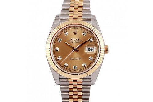 Rolex Datejust 2 Champagne Diamond Dial 41mm Steel & Yellow Gold