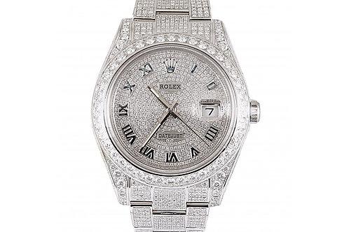 Rolex Datejust Diamond Roman Dial 41mm Steel & Diamonds