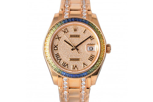 Rolex Datejust Champagne With Diamond Dial 39mm Yellow Gold & Diamonds