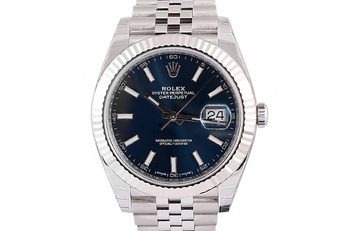 Rolex Datejust Blue Dial 41mm Steel & White Gold