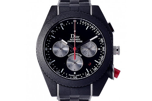 Christian Dior Chiffre Rouge Chronograph Black Dial 41mm Black Steel