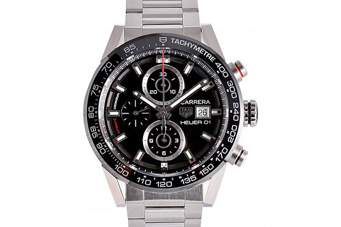 Tag Heuer Carrera Chronograph Black Dial 43mm Steel