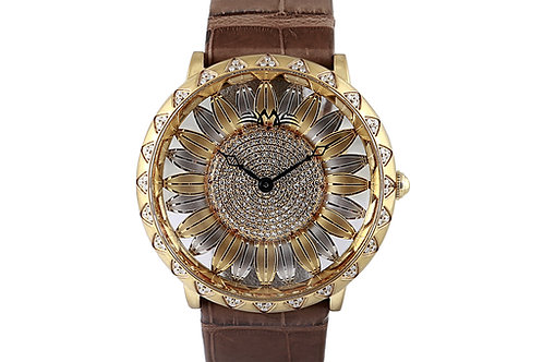 Montreux Sunflower Diamond Dial and Bezel with Diamonds 45mm