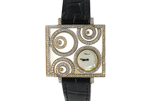 Chopard Happy Spirit Yellow Gold with Diamonds and Mother of Pearl Dial 41mm