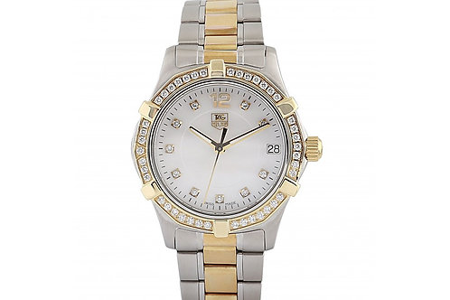 Tag Heuer Aquaracer Mother of Pearl Dial With Diamonds 26mm Steel & Yellow Gold