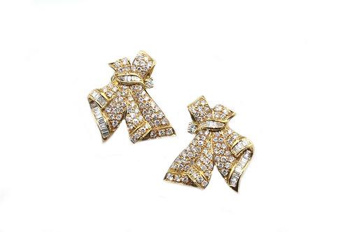 Knot Diamond Earrings