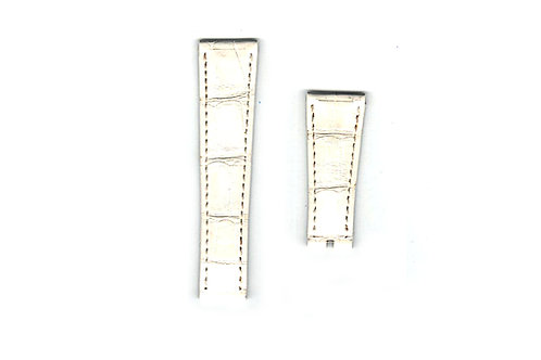 Rolex White Leather Strap 20mm