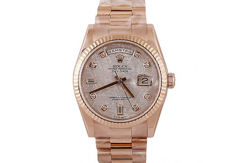 Rolex Day-Date Mother of Pearl Diamond Dial 36mm Rose Gold
