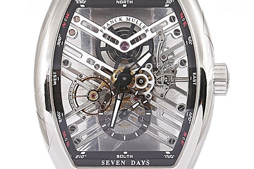Franck Muller Vanguard Seven Days Skeleton Dial 44 x 53mm