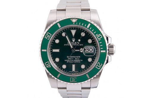 """Rolex Submariner """"Hulk"""" Green 40mm Steel"""