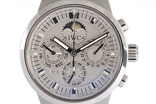 IWC GST Perpetual Calendar Moonphase Chronograph Grey Dial 43mm Steel