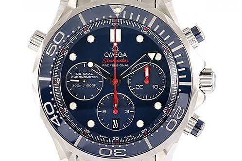 Omega Seamaster Chronograph Blue Dial 44mm Steel