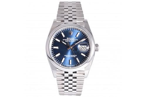 Rolex Datejust Blue Dial 36mm Steel Jubilee Bracelet New Lock