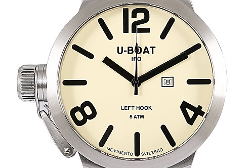 U-Boat Limited Edition Classico Left Hook Steel 53mm