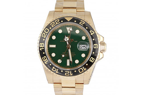 Rolex GMT-Master II Green Dial 40mm Yellow Gold