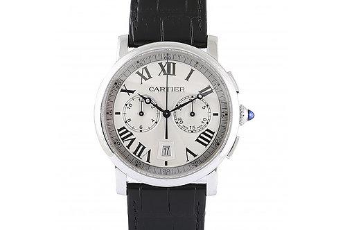 Cartier Rotonde de Cartier Chronograph Silver Dial 40mm Steel