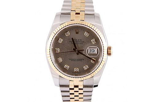 Rolex Datejust Jubilee Diamond Dial 36mm Steel & Yellow Gold