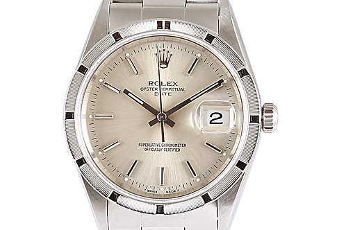 Rolex Oyster Perpetual Date Silver Dial Steel 34mm