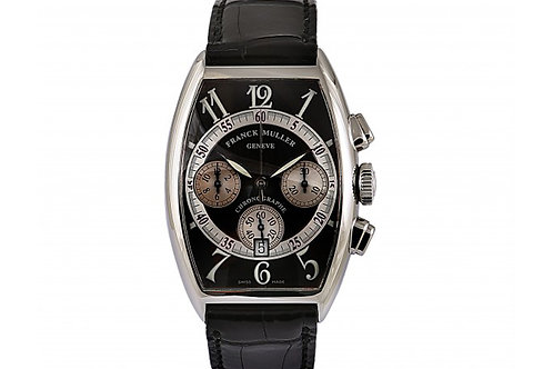 Franck Muller Curvex Chrono Black Dial 38mm Steel