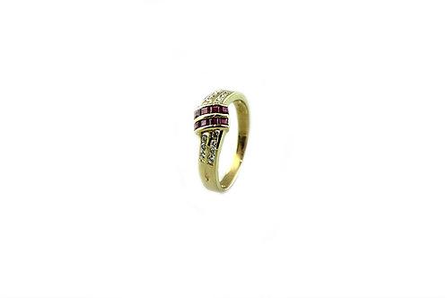 Baguette Ruby Diamond Ring