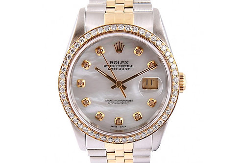Rolex Datejust 36mm Steel, Yellow Gold & Diamonds
