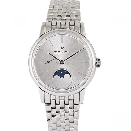 Zenith Elite Ultra Thin Moonphase Silver Dial 33mm Steel