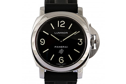 Panerai Luminor Base Logo Acciaio Black Dial 44mm Steel