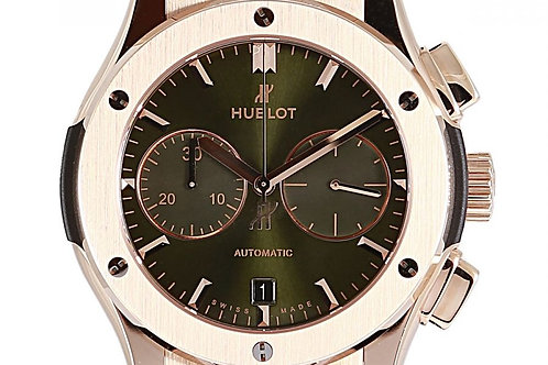 Hublot Classic Fusion Green Sunday Dial 45mm Rose Gold