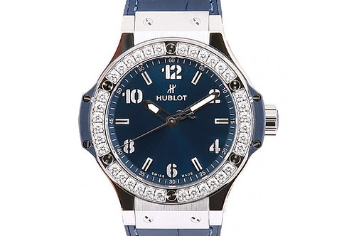 Hublot Big Bang Quartz Blue with Diamonds 38mm