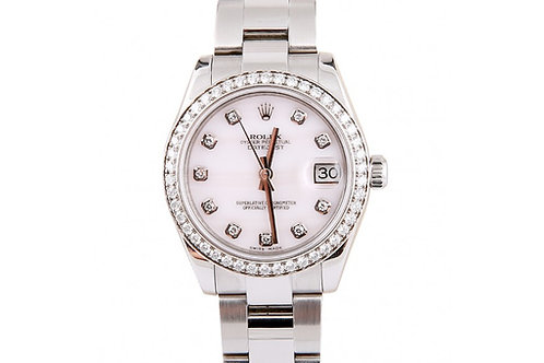 Rolex Datejust Mother of Pearl Diamond Dial 31mm Steel & Diamonds