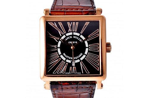 Franck Muller Master Square 'King' Relief Black Dial 36.5mm Rose Gold