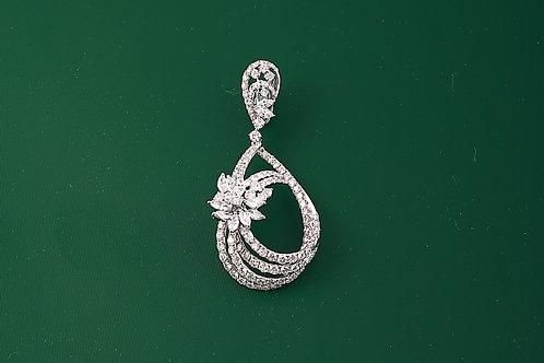 Drop Design Diamond Pendant