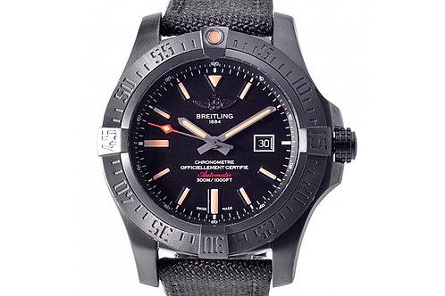 Breitling Avenger BlackBird Chronometer Black Dial 44mm Titanium