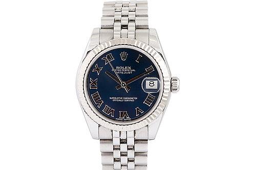 Rolex Datejust Blue Roman Numeral Dial 31mm